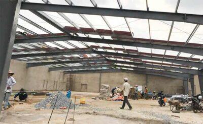 Thi công nhà xưởng kết cấu thép cho Công ty Thiên Việt tại Long An