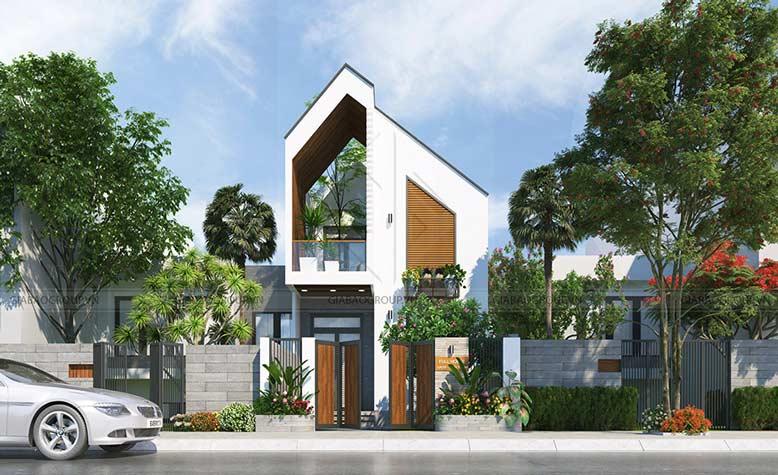 Thiết kế thi công biệt thự mini 2 tầng hiện đại