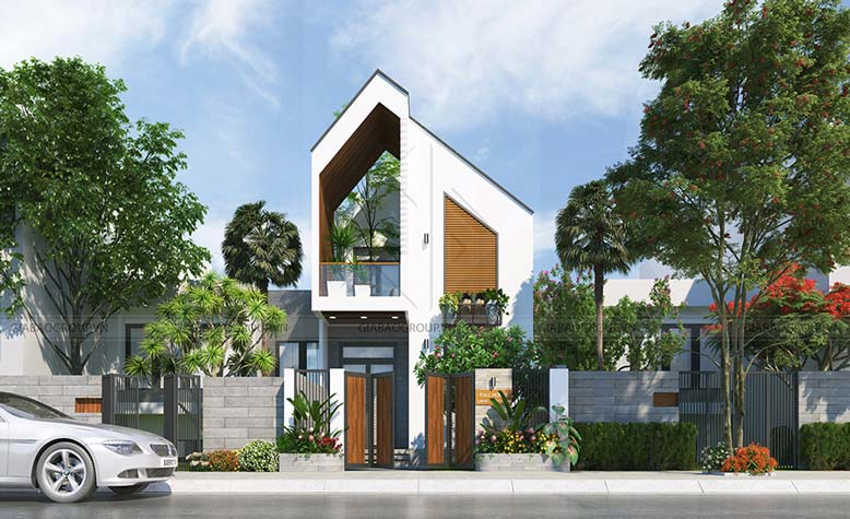 Mẫu biệt thự mini 2 tầng thiết kế độc đáo tại Bình Thuận