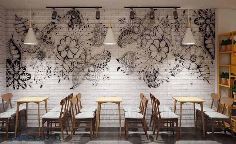 Thiết kế quán trà sữa đẹp dành cho 4 người ngồi