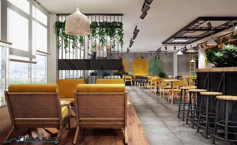Thiết kế quán trà sữa đẹp với bàn ghế đa dạng phong cách và kiểu dáng