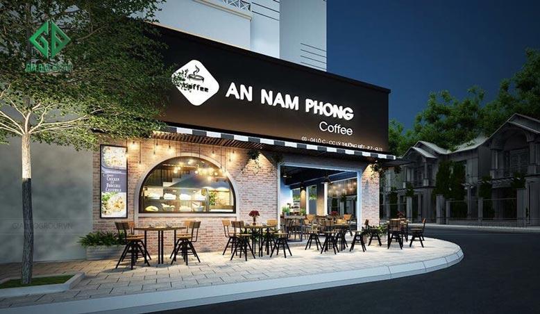 Thiết kế quán cafe Nam Phong theo phong cách châu Âu hiện đại