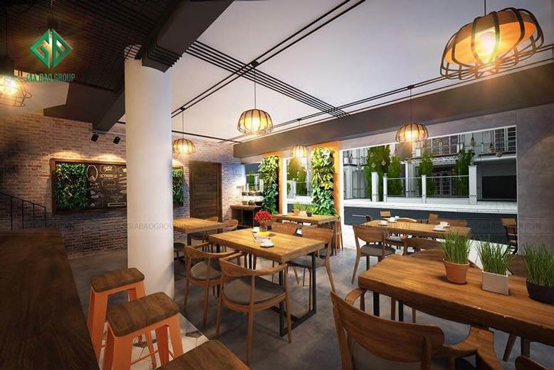 Thiết kế quán cà phê hiện đại ấn tượng