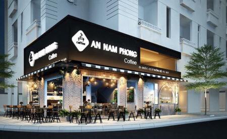 Thiết kế quán cà phê Nam Phong, phong cách châu Âu hiện đại