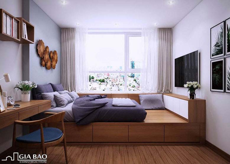 Thiết kế nội thất căn hộ chung cư ngập ánh sáng tự nhiên