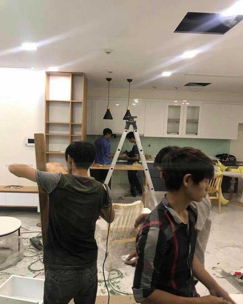 Hình ảnh thực tế công trình thi công nội thất căn hộ