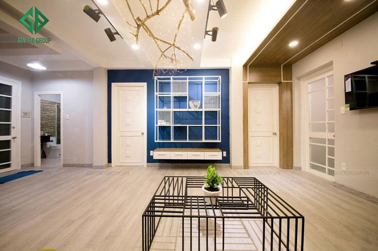 thiết kế nội thất chung cư hiện đại với phòng khách đậm chất nghệ thuật