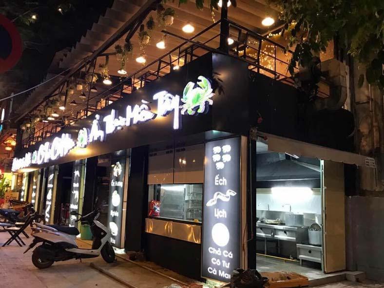Thiết kế quán ăn hải sản sinh thái- Cô Tư, Cà Mau