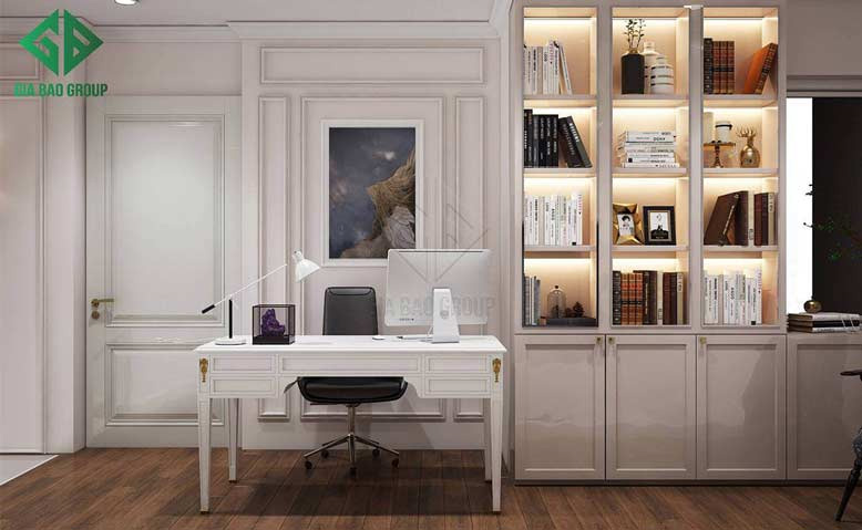 Thiết kế nội thất căn hộ chung cư cao cấp cho phòng đọc sách