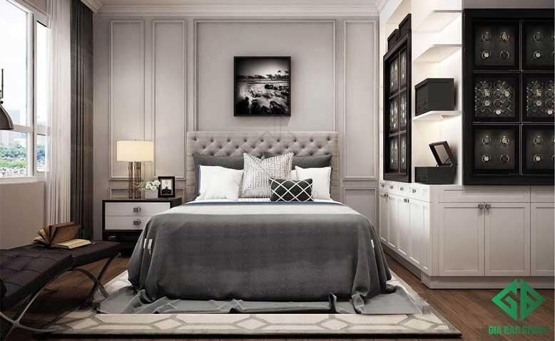 Thiết kế nội thất căn hộ chung cư cao cấp cho phòng ngủ 01