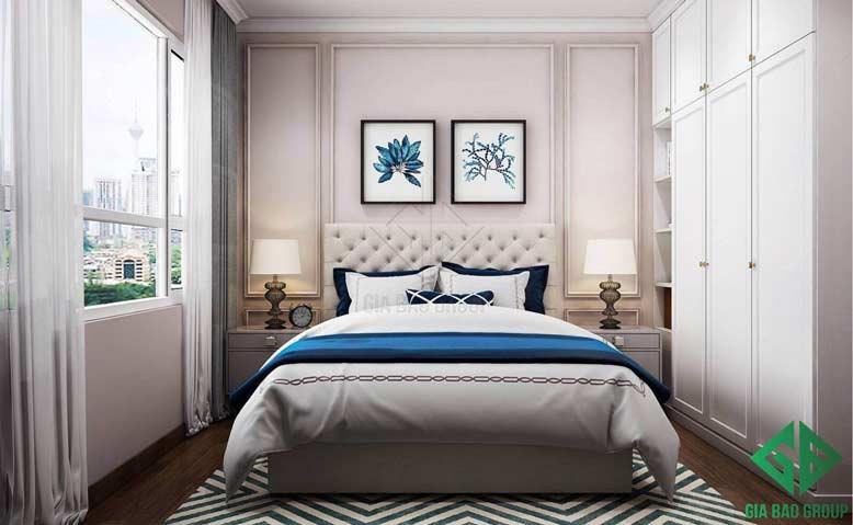 Thiết kế nội thất căn hộ chung cư cao cấp cho phòng ngủ 02