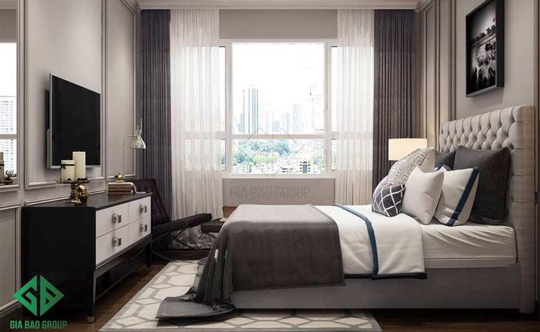 Mẫu thiết kế nội thất phòng ngủ căn hộ chung cư Duplex