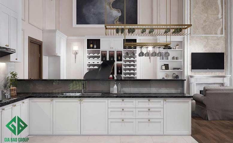 Phòng bếp mang vẻ đẹp hiện đại