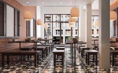 Thiết kế quán ăn đẹp theo phong cách cổ xưa tại quận 3