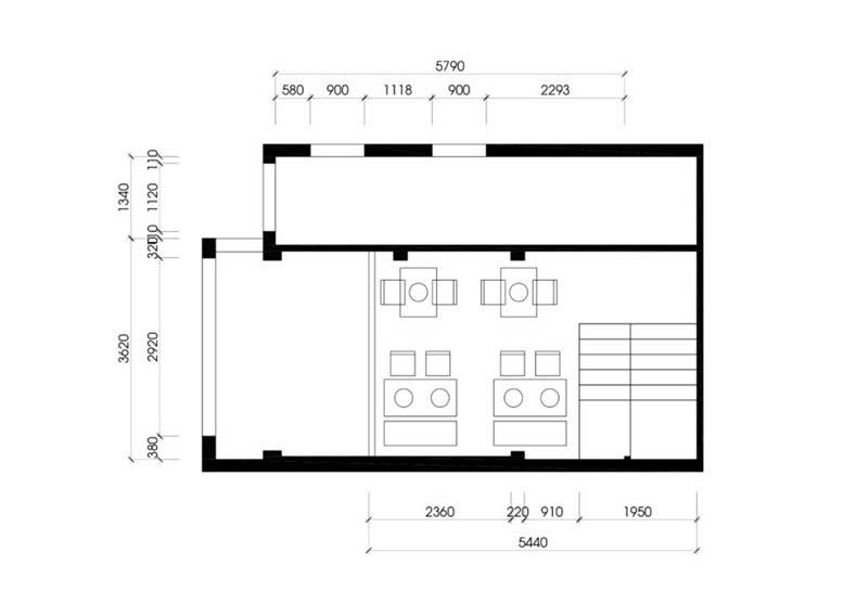 Bản vẽ mẫu thiết kế quán ăn phố cổ