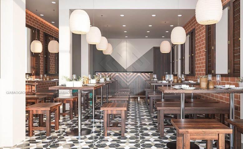 Thiết kế quán ăn đẹp, phong cách cổ xưa tại quận 3