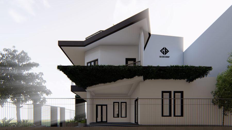Phối cảnh mặt bên căn nhà