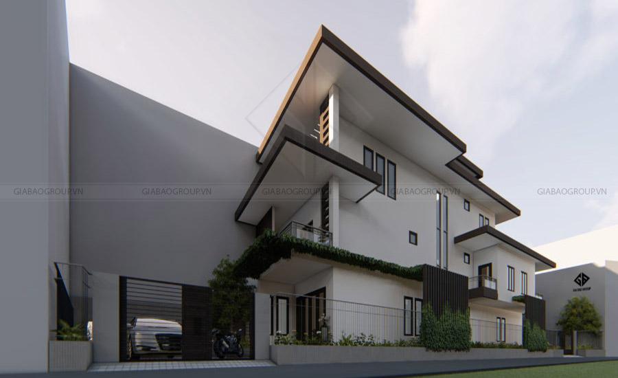 Thiết kế nhà phố 3 tầng 3 phòng ngủ