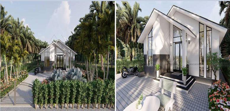 Ngắm vẻ quyến rũ của biệt thự nhà vườn cấp 4 ở Quy Nhơn