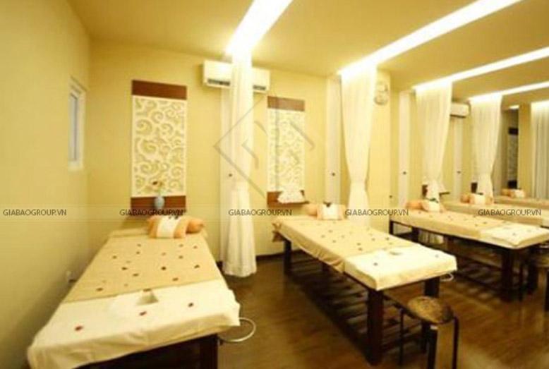 Phòng làm đẹp được thiết kế nội thất spa với nội thất đơn giản