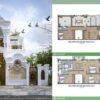 Biệt thự 3 tầng cổ điển theo phong cách phương tây