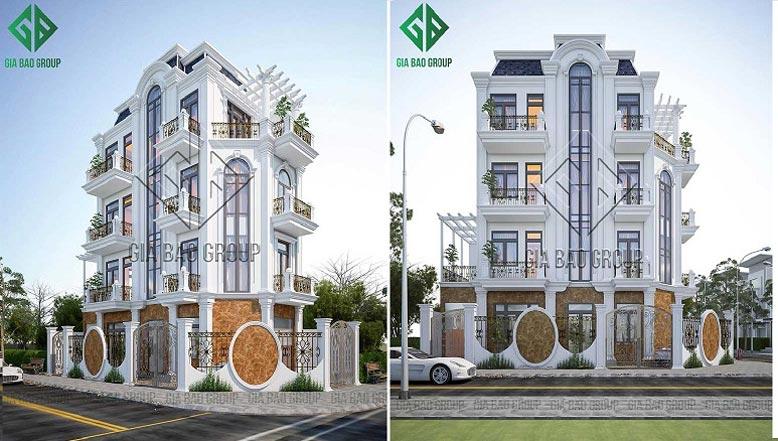 Biệt thự 4 tầng tân cổ điển lộng lẫy cho những gia đình quyền quý