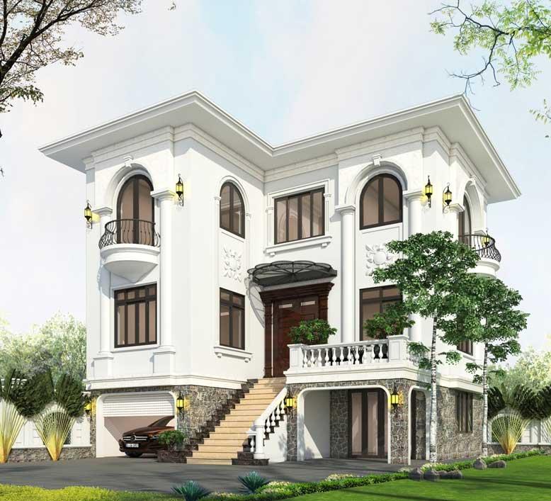Biệt thự nhà vườn phong cách tân cổ điển đem đến một nét đẹp thanh nhã đầy quyến rũ