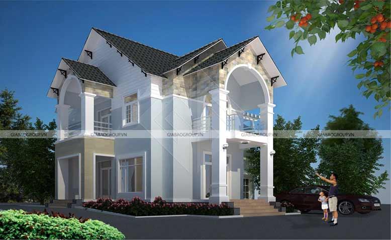 Thiết kế nội thất biệt thự mái thái 2 tầng