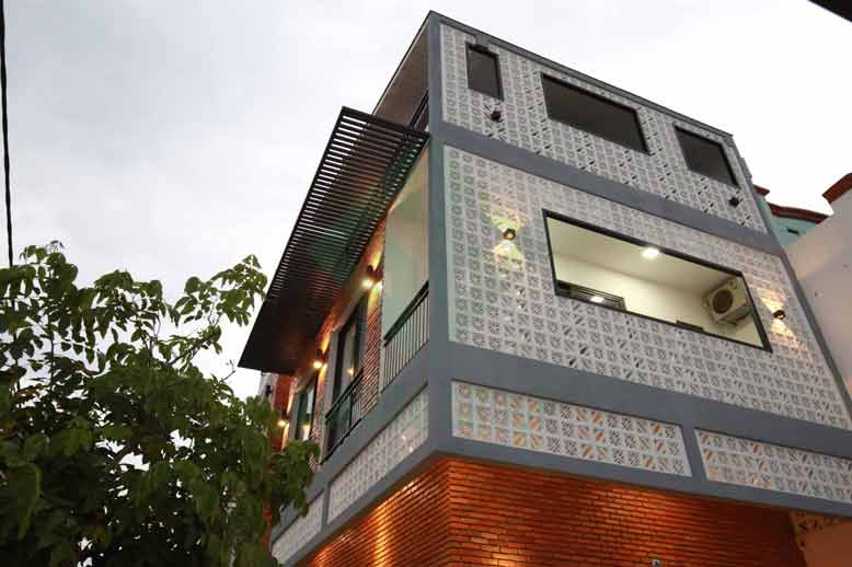 ảnh thực tế của nhà phố 3 tầng hiện đại