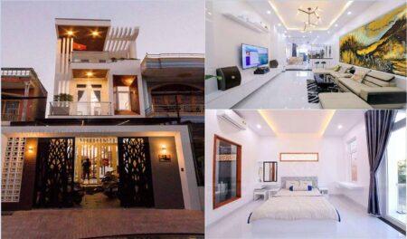 Thi công mẫu nhà phố đẹp 3 tầng phong cách hiện đại tại Lagi, Bình Thuận