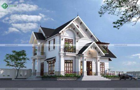 Mẫu biệt thự 2 tầng mái Thái đẹp ngất ngây tại Bạc Liêu