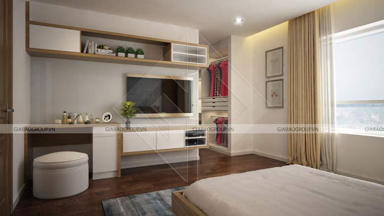 Thiết kế nội thất biệt thự mái thái cho phòng ngủ tại Long An