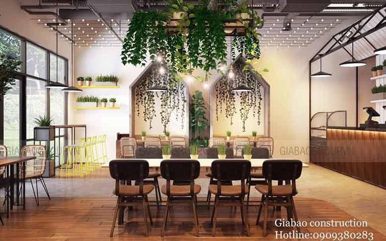 Mẫu thiết kế nội thất quán trà sữa hiện đại
