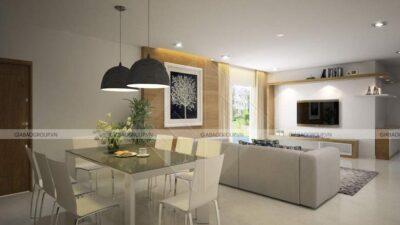 Thiết kế nội thất biệt thự mái thái 2 tầng tại Long An