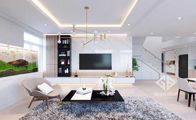 Nội thất căn hộ chung cư đẹp và thời thượng với 135m2