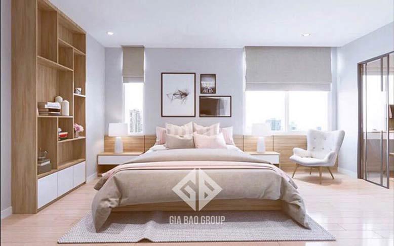 Nội thất căn hộ chung cư đẹp cho phòng ngủ trang nhã