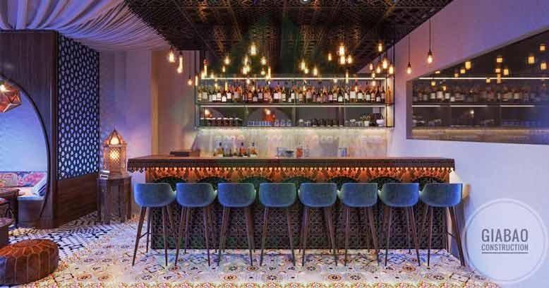Thiết kế quầy bar quán cafe phong cách Ba Tư huyền bí tại quận 1