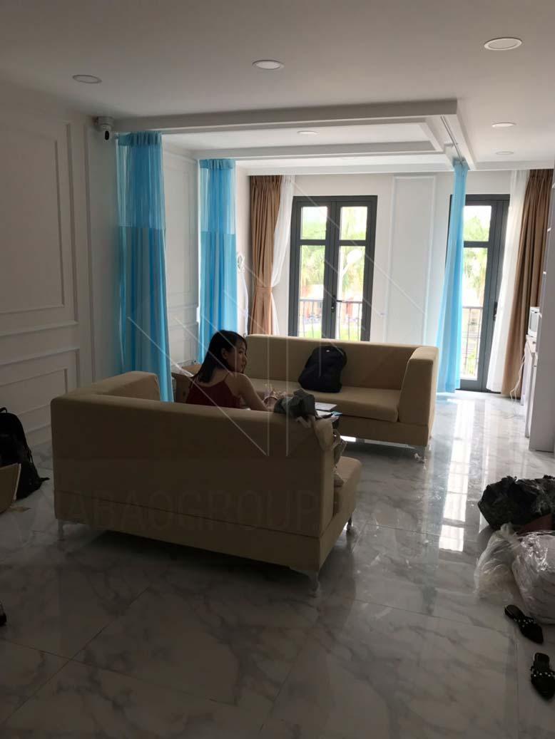 Phòng chờ trong thiết kế nội thất spa Aura