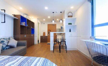 Thi công thiết kế căn hộ 1 phòng ngủ đẹp mát mắt tại chung cư Everrich, quận 5