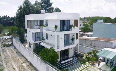 Thiết kế nhà phố đẹp 3 tầng hiện đại, thời thượng tại Củ Chi