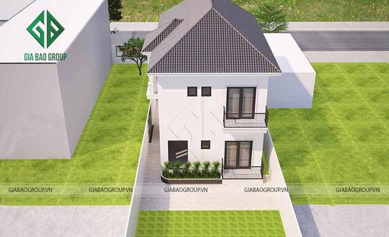 Phối cảnh 3D chi tiết biệt thự nhà vườn 2 tầng tại Củ Chi