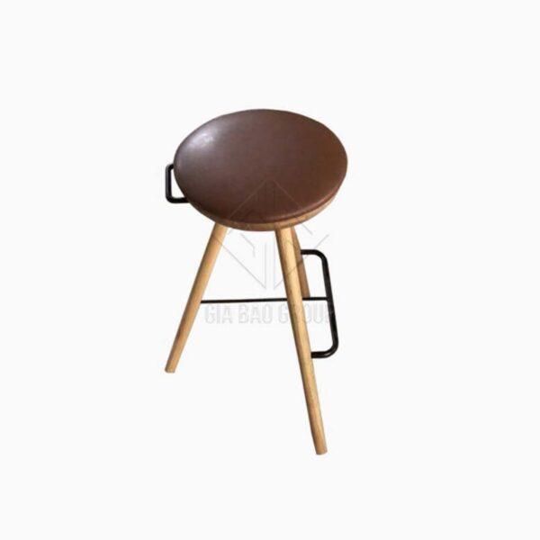 Ghế gỗ tròn lót nệm ( GN-017 )