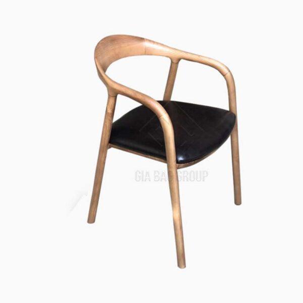 Ghế tựa lưng gỗ lót nệm ( GN-012 )