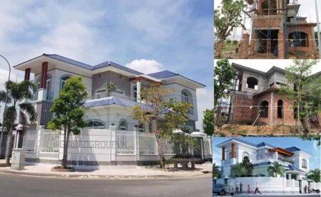 Thi công biệt thự tân cổ điển 2 mặt tiền tại Khánh Hoà