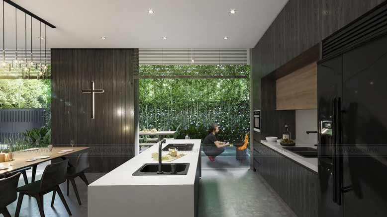 Phòng ăn biệt thự vườn 3 gian