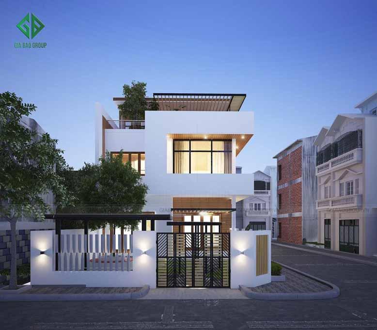 Thiết kế nhà phố 2 mặt tiền tinh tế và phù hợp với nhu cầu của gia chủ