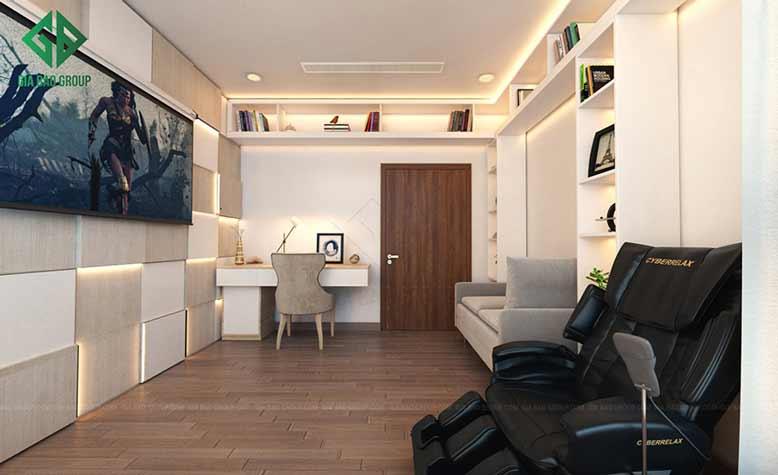 Thiết kế nội thất căn hộ căn hộ Vinhomes Park 7 với phòng khách hiện đại