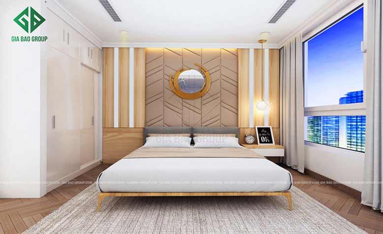 Thiết kế nội thất căn hộ chung cư đẹp cho giường ngủ