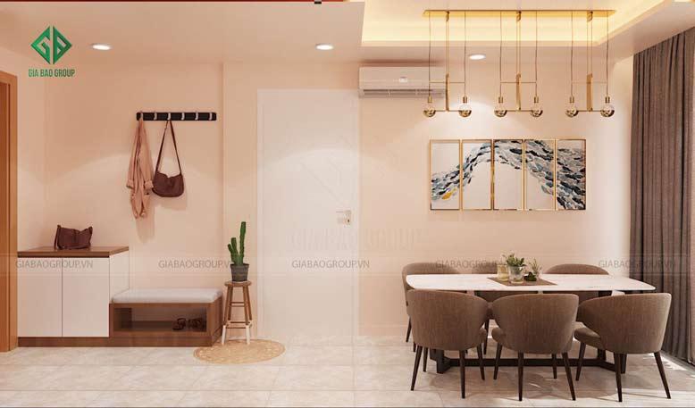 Thiết kế nội thất căn hộ Đảo Kim Cương cho phòng ăn