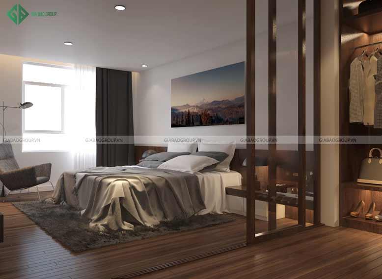 Thiết kế nội thất căn hộ Penthouse cho phòng ngủ tạo cảm giác dễ chịu